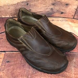 Ecco Men's Shock Point Brown Slip On Loafers Sz 44